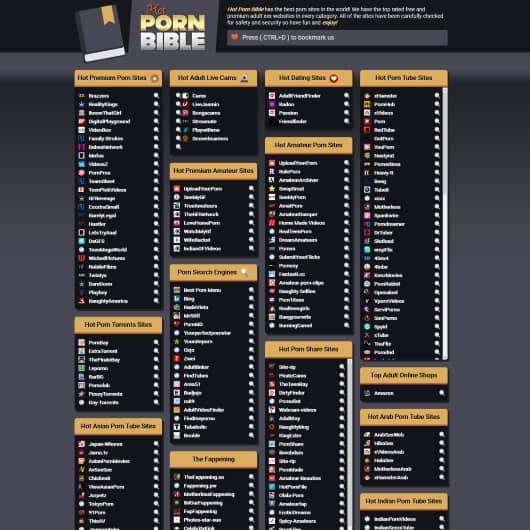 Список Порнографических Сайтов